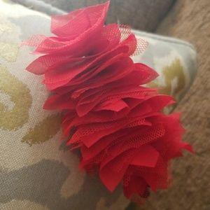 Red fabric headband